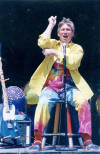 jim performing on stage